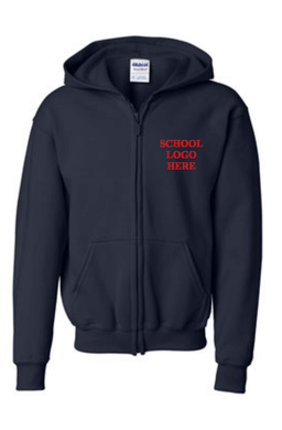 Rita Cannan Navy Blue Zipper Sweatshirt Uniform