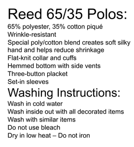 Reed School Uniform and washing instructions