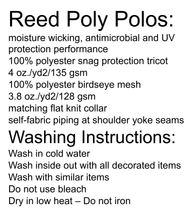 Load image into Gallery viewer, Reed High School Uniform and washing instructions