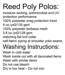 Reed High School Uniform and washing instructions