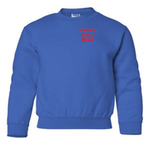 Load image into Gallery viewer, Nancy Gomes School Uniform Royal Crewneck
