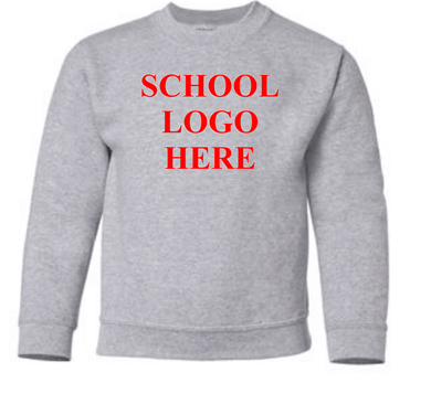 Swope Middle School Sport Grey Crewneck Sweathsirt