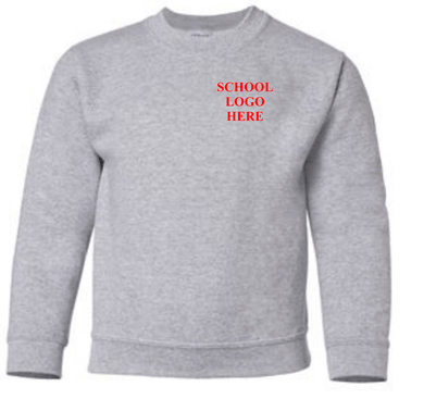Mount Rose Sport Grey Crewneck School Uniform