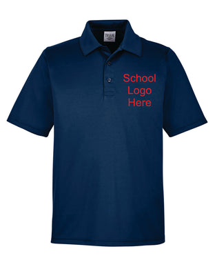 Swope Navy Polyester Polo