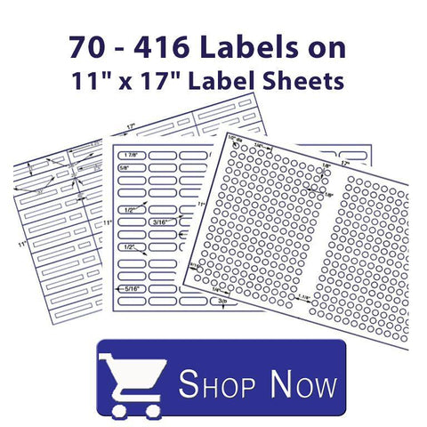 70 to 416 Labels on an 11