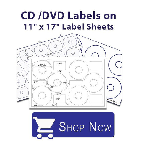 CD/DVD Media Label Sheets