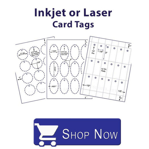 Inkjet or Laser Card Tags