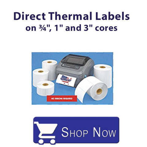 Direct Thermal Labels on 3/4