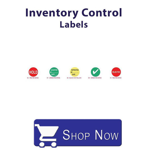 Inventory Control labels.