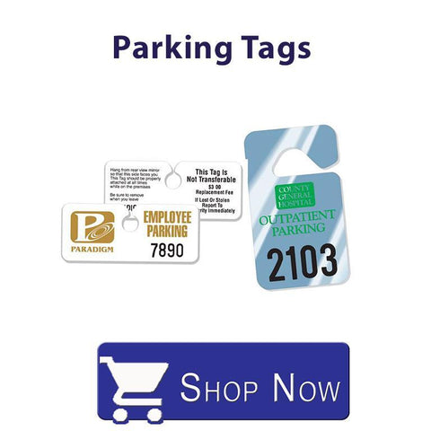 Custom Numbered Parking Tags