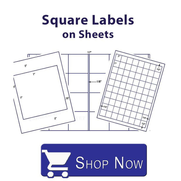 Square Labels on Sheets.