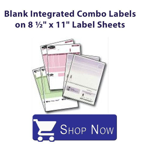 Blank or Printed Intergrated Combo Label on 8 1/2