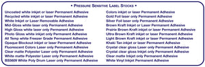 Pressure Sensitive Label Stocks - all shapes and sizes for all printers | usable.net
