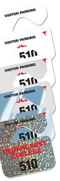 .015 inch Mini Hang Tag Parking Permit - uslabel.net  America's label store.