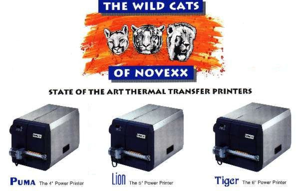 Novexx Lion, Puma, Tiger, Tiger XXL, XXtreme & Chess Printers - uslabel.net - The Label Resource Center