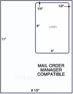US0016MOM - 8 1/2'' x 11'' Mail Order Manager with a 4'' x 6'' label. - uslabel.net  America's label store.