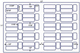US7661 - 2 3/4'' x 13/16'' - 60 on a 11'' x 17'' laser sheet.