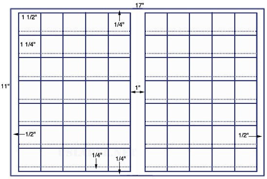 US7709 -1 1/2''x1 1/2'' sq price label- 70 on a 11'' x 17'' sheet - 70,000 label