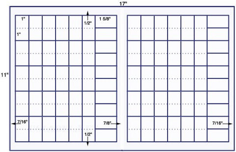 US7743 - 1'' x 2'' & 1 5/8'' x 1''  - 80 on a 11'' x 17'' sheet - 80,000 labels.