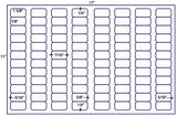 US7840 - 1 5/8'' x 7/8'' - 96 up label on a 11'' x 17'' laser sheet