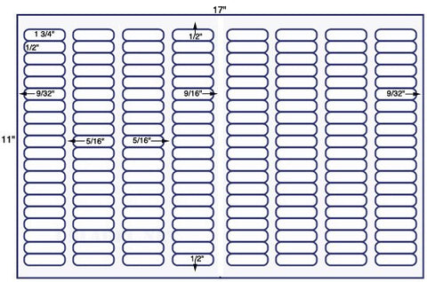 US7900- 1 3/4'' x 1/2'' Avery 5167-160 up on a 11'' x 17'' sheet-160,000 labels