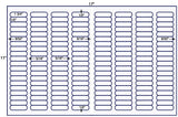 US7920 1 3/4'' x 1/2'' Avery 5167-160 up on a 11'' x 17'' laser sheet.