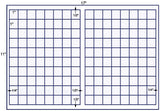 US7925 1'' x 1'' square - 160 up on a 11'' x 17'' laser sheet.