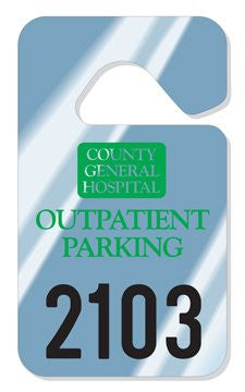 2 3/4'' x 4 3/4'' inch - .015 inch Standard Hang Tag Parking Permit - Minimum 125 per unit - uslabel.net - The Label Resource Center
