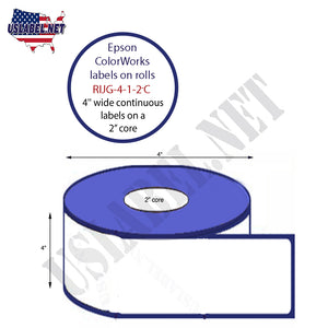 "4'' Wide Continuous label on a 2""Core with a 4″ O.D"
