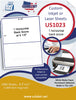 US1023 - 8 1/2'' x 11'' -1,000 labels 1 horizontal back score Inkjet or Laser Labels.
