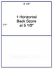 US1023 - 8 1/2'' x 11'' -1,000 labels 1 horizontal back score.