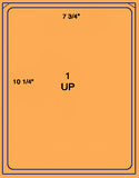 "US1060-7 3/4""x10 1/4"" label on a 8.5 x 11 label sheet."