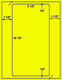 "US1062-5.5"" x 10.5"" label on a 8.5"" x 11"" label sheet."