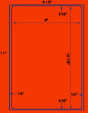 "US1070 - 8"" x 10 7/8"" label on a 8 1/2"" x 11"" laser sheet."