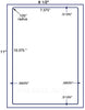 "US1075 - 7.375"" x 10.375"" label on a 8 1/2"" x 11"" sheet. - uslabel.net - The Label Resource Center"