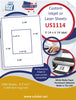 "US1114-51/4'' x 41/4'' on a 8 1/2"" x 11"" sheet Inkjet or Laser Labels. - uslabel.net - The Label Resource Center"