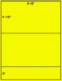 "US1160 - 8 1/2'' x 4 1/2'' on a 8 1/2"" x 11"" label sheet."