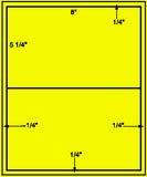 "US1179 - 8'' x 5 1/4'' on a 8 1/2"" x 11"" label sheet."