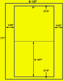 "US1192- 2up 5.187''x 6"" label on  8 1/2"" x 11"" label sheet"