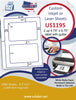 "US1195 - 4.75'' x 6.75''  2 up on a 8 1/2"" x 11""  inkjet and laser label sheet. - uslabel.net - The Label Resource Center"