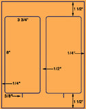 "US1223-2 up 3 3/4'' x 8"" on a 8 1/2"" x 11"" label sheet."