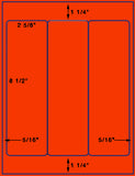 "US1260-3 up 2 5/8'' x 8 1/2'' on a 8 1/2"" x 11"" label sheet"