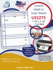 "US1275 - 3 up 7 1/2'' x 2 1/2'' on a 8 1/2"" x 11"" inkjet and laser sheet. - uslabel.net - The Label Resource Center"
