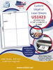 "US1423 - A4 4''- 4.125"" x 5.84375"" label on a 8.25"" x 11"" inkjet and laser label sheet."