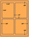 US1460-3.75''x4.75''-4 up #6878 a 8.5 x 11 label sheet.