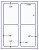 "US1481 - 3 1/2'' x 5''- 4 up Comparable # 5168 label on a 8 1/2"" x 11"" label sheet. - uslabel.net - The Label Resource Center"