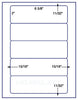 "US1580 - 6 5/8'' x 2'' - 5 up label on a 8 1/2"" x 11"" inkjet or laser sheet. - uslabel.net - The Label Resource Center"