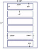 "US1619 - 6.375'' x 1.5'' - 6 up label on a 8 1/2""  x 11"" label sheet. - uslabel.net - The Label Resource Center"