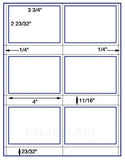 "US1801-3/4''x2 23/32'' 6 up on a 8 1/2""x11"" label sheet."