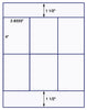 "US1821 - 2.833'' x 4'' - 6 up  on a 8 1/2"" x 11"" label sheet"